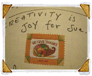 Creativity is joy for Sue.