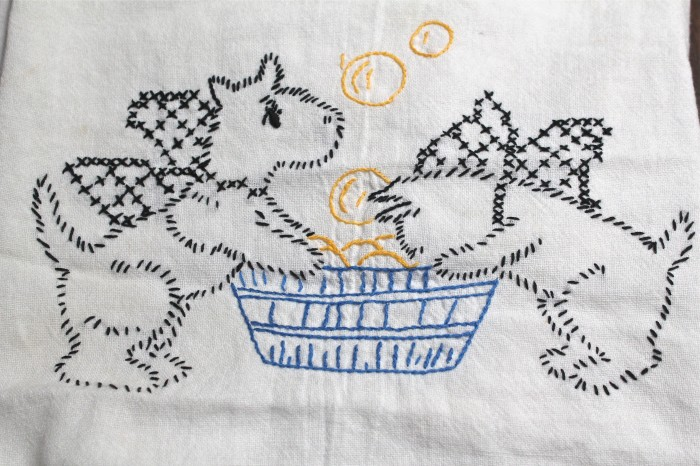 Embroidered Dish Towel Sale