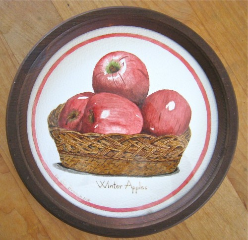Apple watercolor