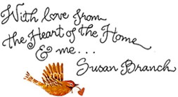 Bird and heart ... With love from Susan Branch