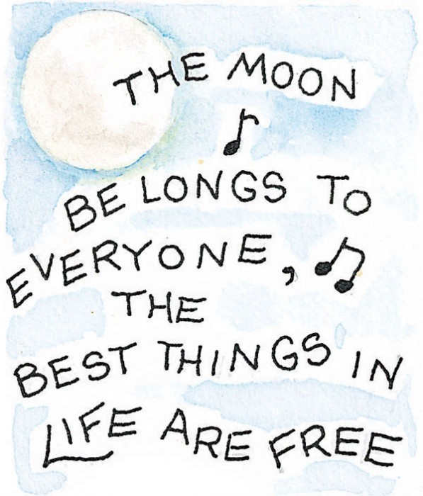 The moon belongs to everyone artwork Susan Branch