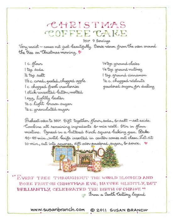 Susan Branch Christmas Coffee Cake