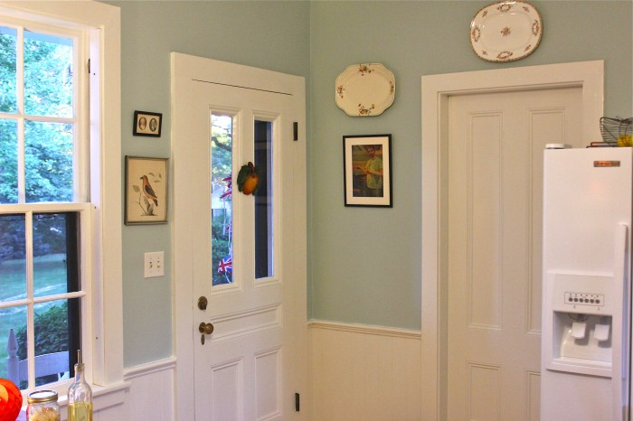 I Washed The Platters, And Shined The Glass On The Pictures Before They  Went Back Up. I Love The Color Of The Walls! (Benjamin Moore Woodlawn Blue,  ...