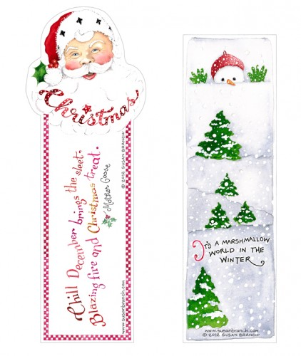 image relating to Printable Christmas Bookmarks named Vacation Bookmarks Susan Department Web site
