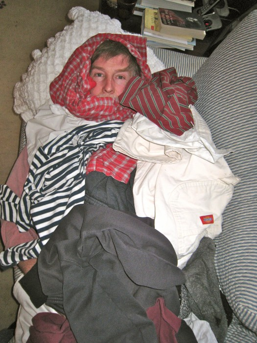 Joe in the warm laundry