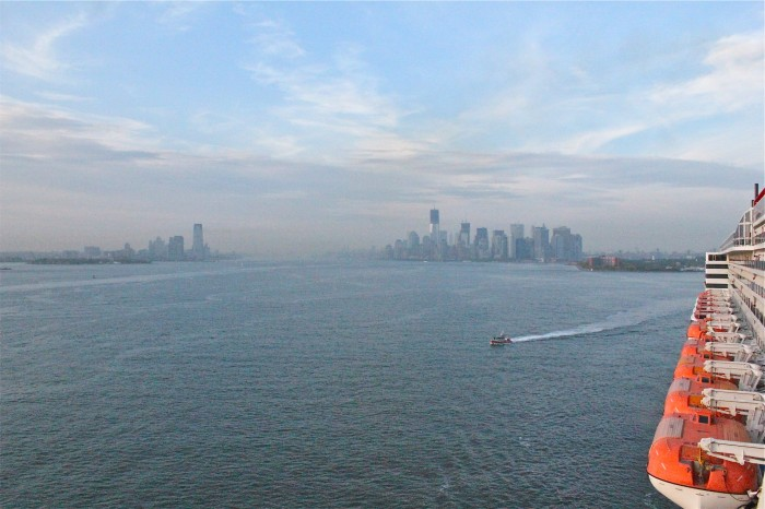 Leaving New York Harbor