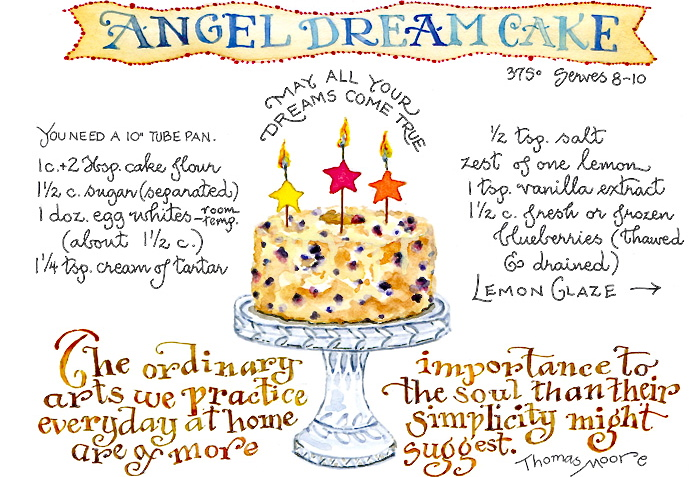 Blueberry Angel Cake Susan Branch Blog