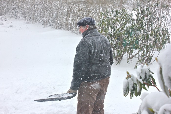 joe shoveling