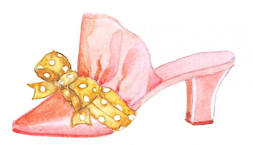 Vanna's shoe