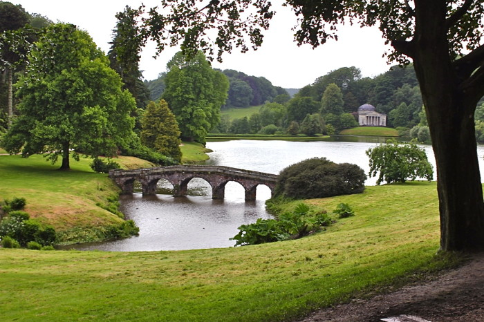 Grass bridge at Stourhead