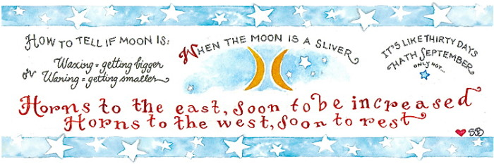 Susan Branch Moon Bookmark 2015