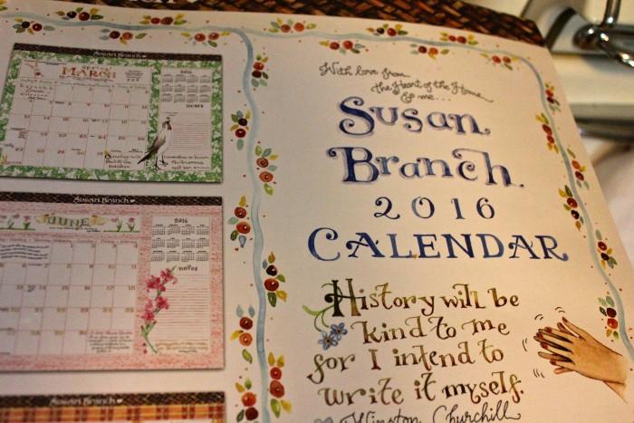 Susan Branch 2016 Blotter Calendar