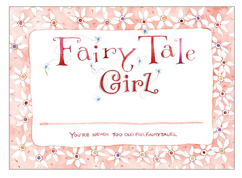 Fairy Tale Girl Name Tag for book signings