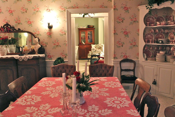 dining room after Christmas